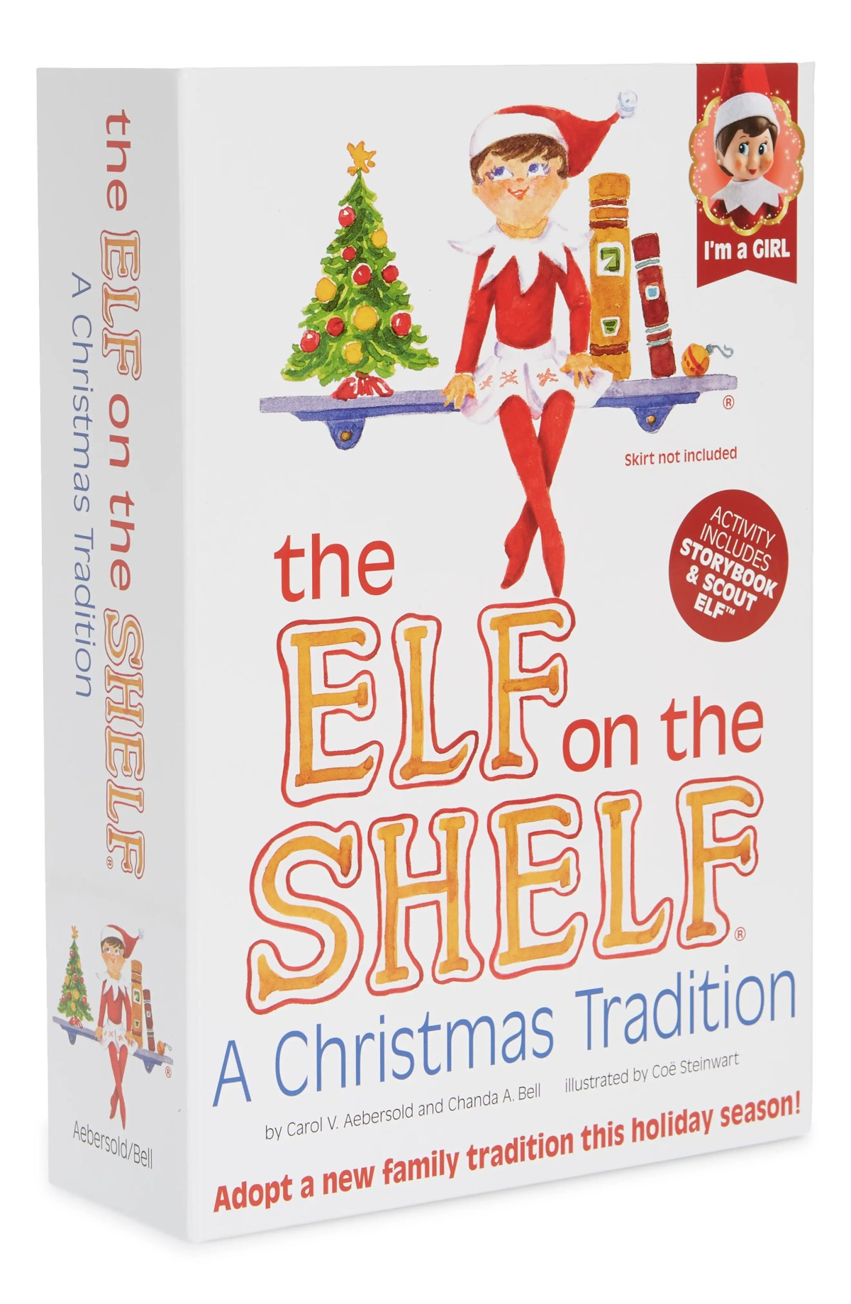 ELF ON THE SHELF Girl Elf & Book Set, Main, color, NONE