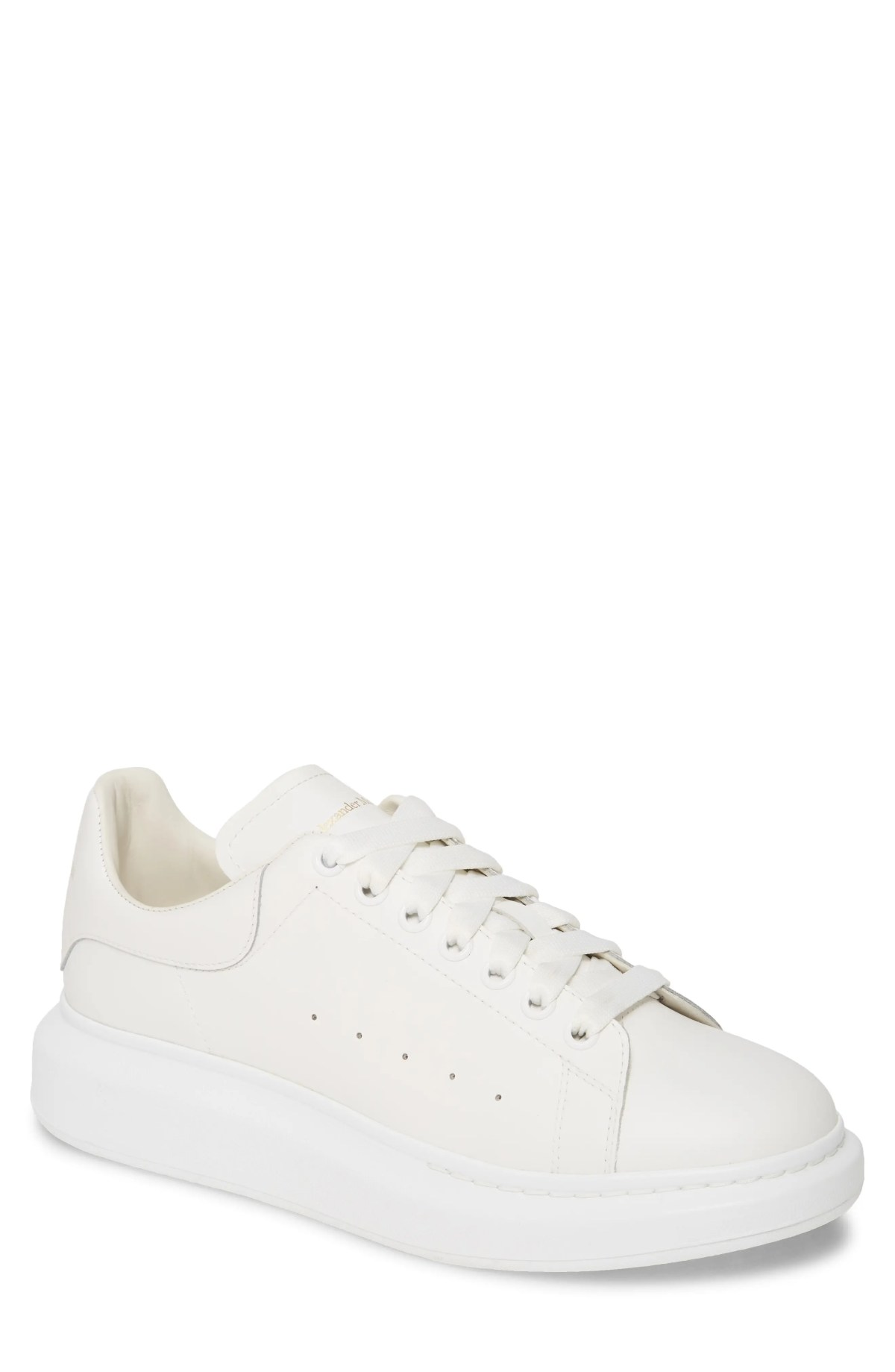 ALEXANDER MCQUEEN Oversize Low Top Sneaker, Main, color, WHITE/ WHITE