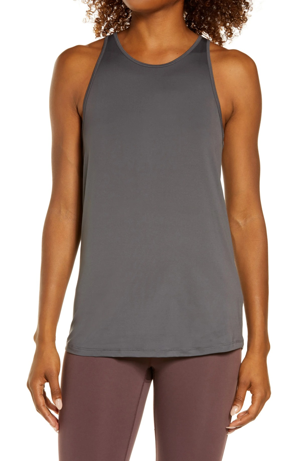 ZELLA Strength Racerback Tank, Main, color, GREY FORGED