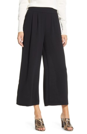 1.STATE Wide Leg Crepe Trousers, Main, color, RICH BLACK