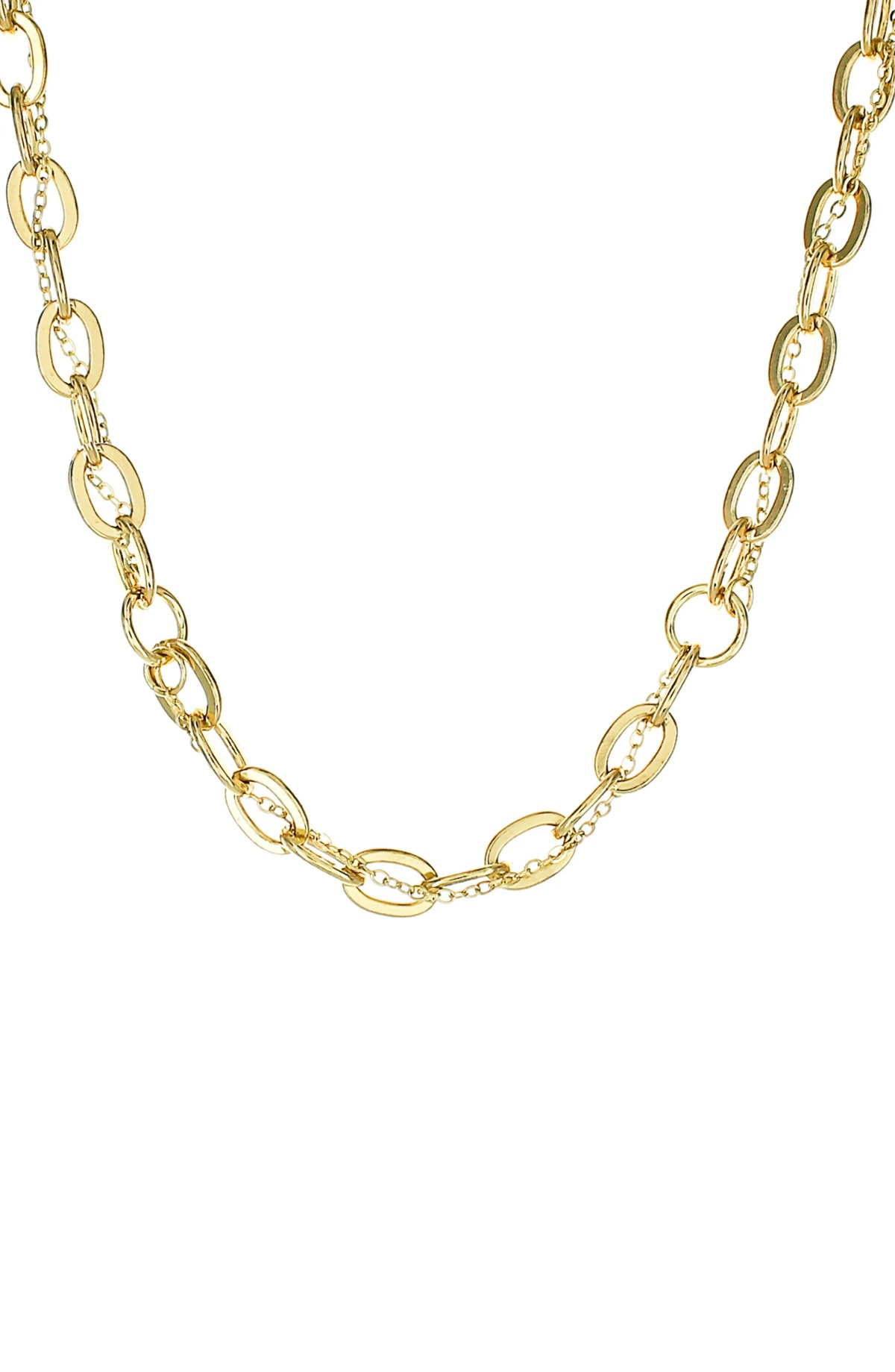 PANACEA Small Twist Chain Necklace, Main, color, GOLD