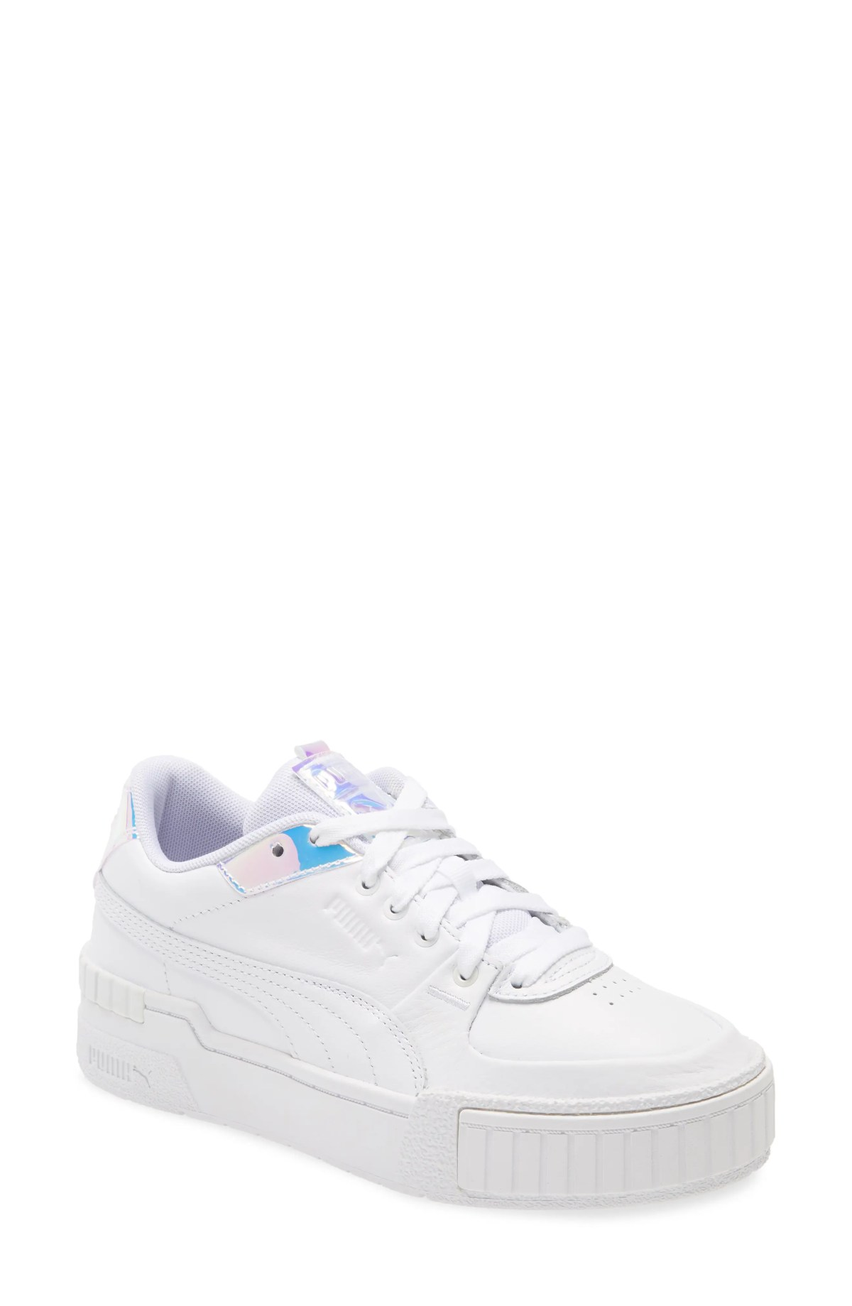 PUMA Cali Sport Glow Sneaker, Main, color, PUMA WHITE/ PURPLE HEATHER