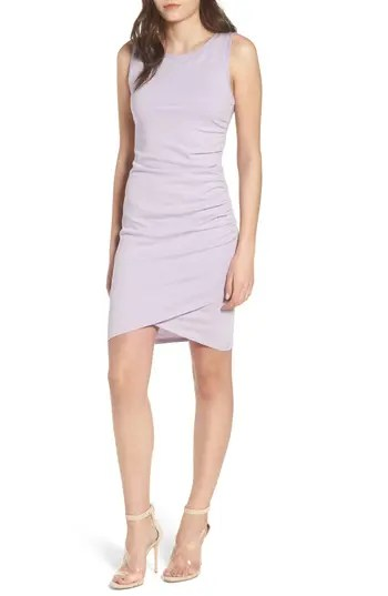 RUCHED BODY TANK DRESS