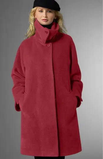 Hilary Radley Suri Alpaca Blend Swing Coat Nordstrom