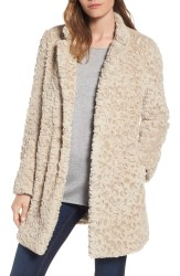 Main Image - Kenneth Cole New York Faux Fur Coat (Regular & Petite)