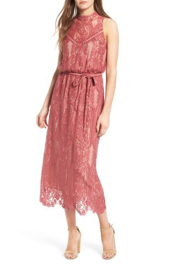 Main Image - WAYF 'Portrait' Lace Midi Dress