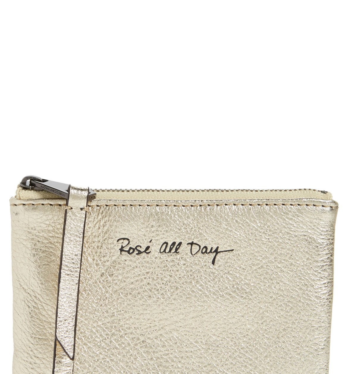 Betty Rosé All Day Leather Zip Pouch