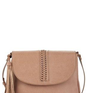 Main Image - Sole Society Tara Stitch Detail Faux Leather Crossbody Bag