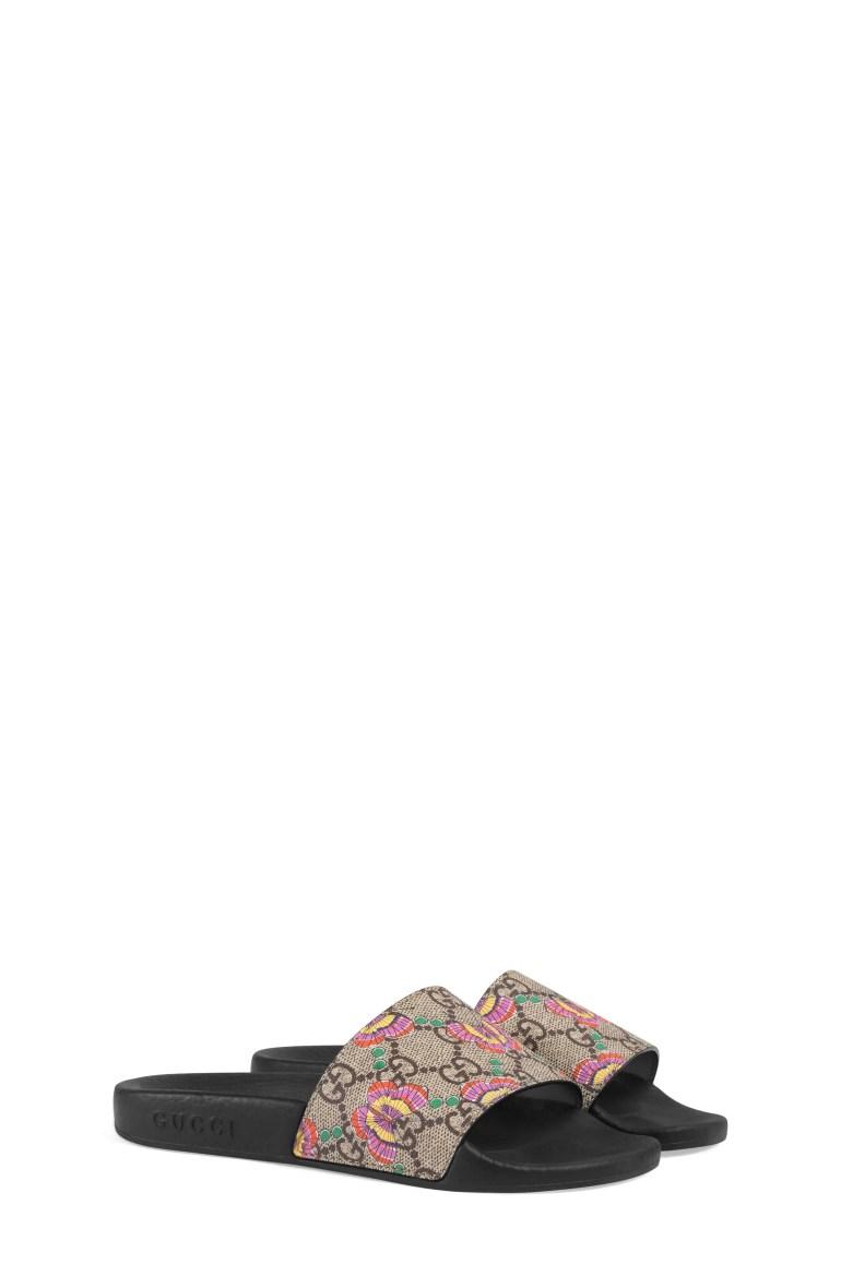 Gucci GG Supreme Butterfly Slide Sandal (Toddler & Little Kid)