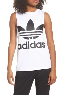 Originals Trefoil Tank,                         Main,                         color, White/ Black