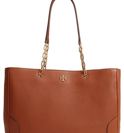 Marsden Pebbled Leather Tote, Main, color, Nut