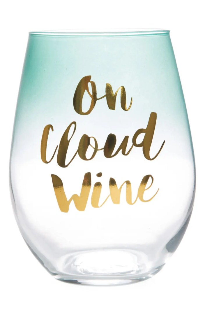 Slant Collections On Cloud Wine Stemless Wine Glass