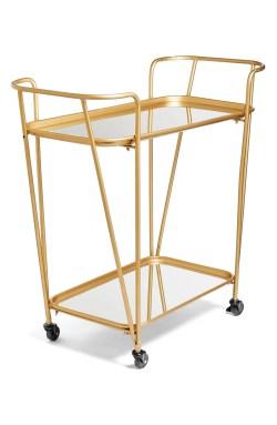 Main Image - Crystal Art Gallery Metal Mirrored Rolling Bar Cart