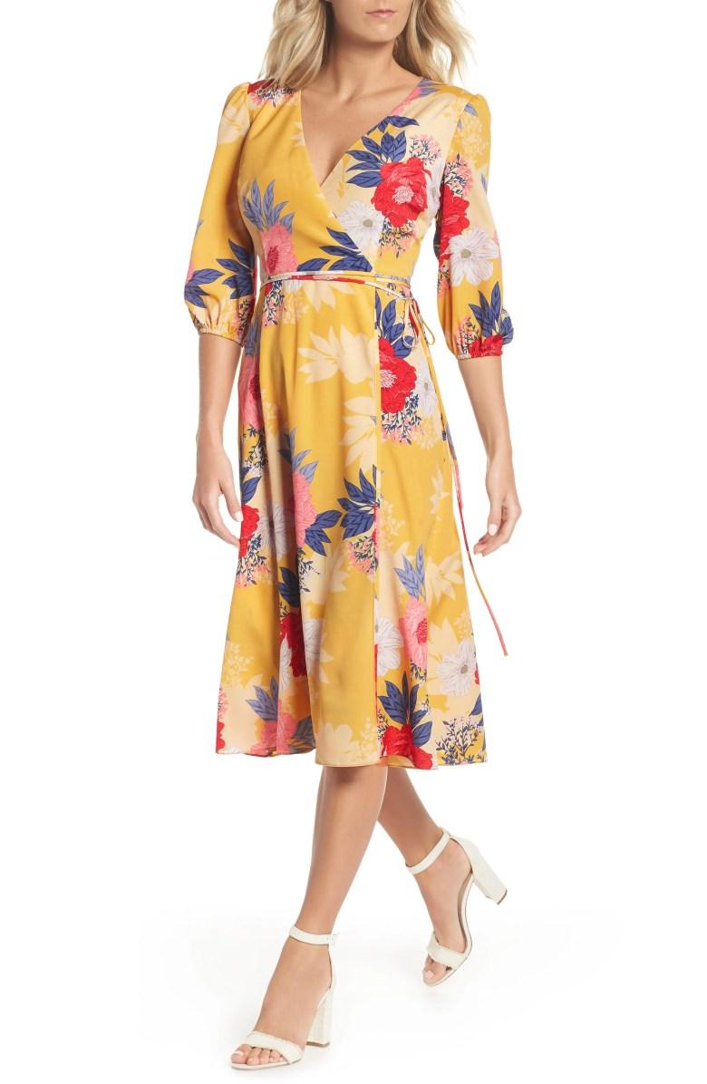stylish petite wrap dress