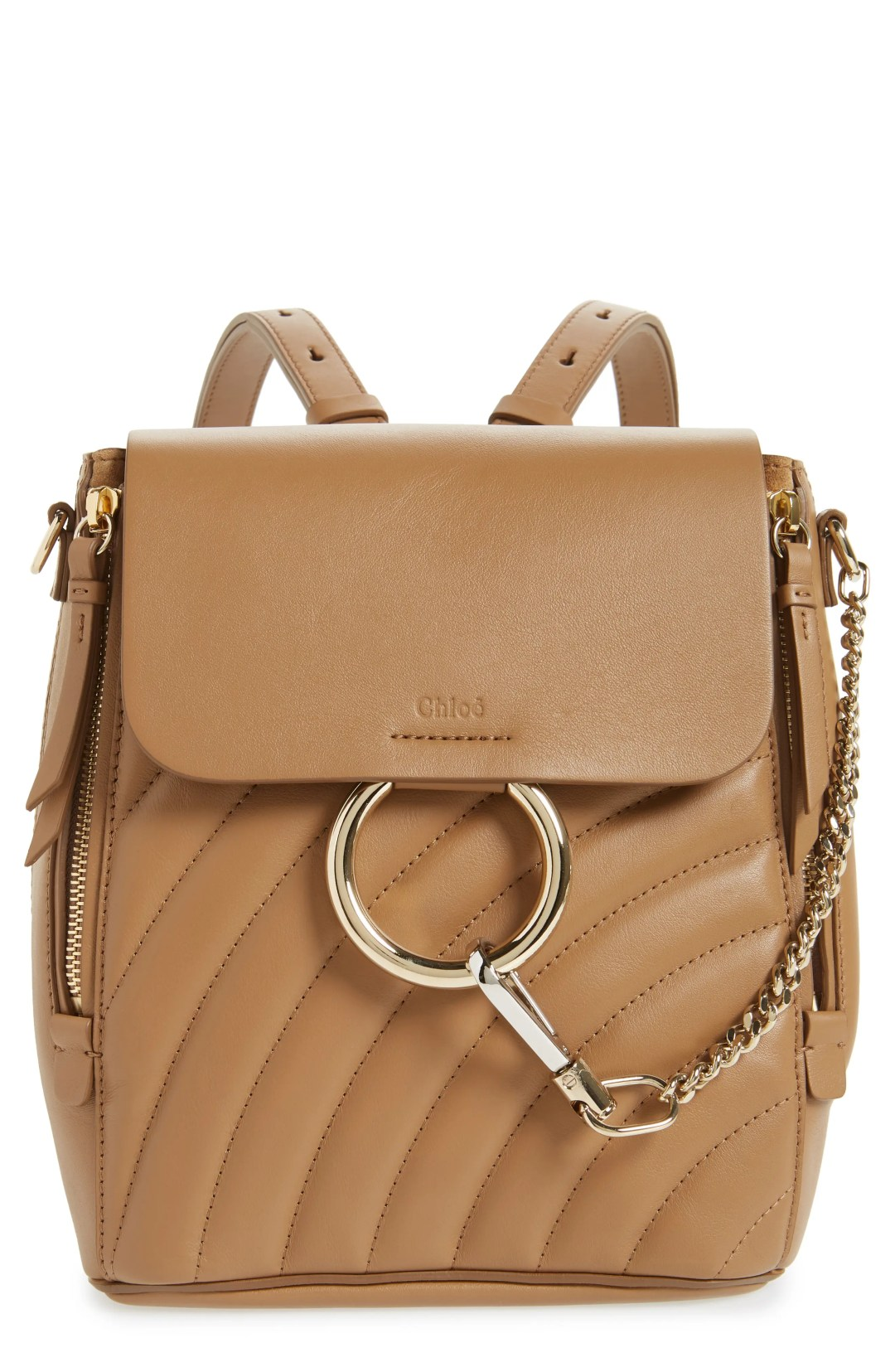 204e7f1129c8 Chloé Small Faye Quilted Leather Backpack