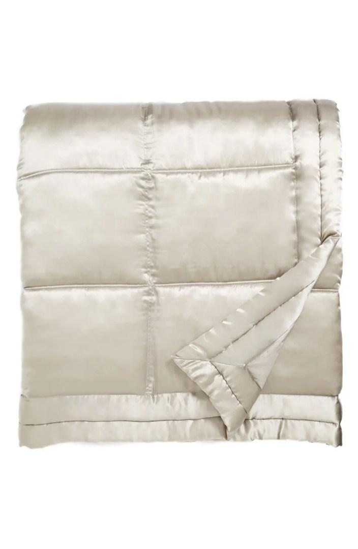 Donna Karan Collection Reflection Silk Charmeuse Quilt