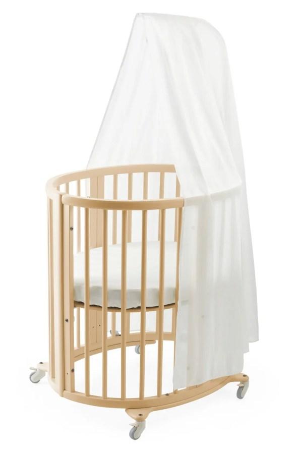 Main Image Stokke Sleepi Mini Crib Drape Rod Mattress Bundle
