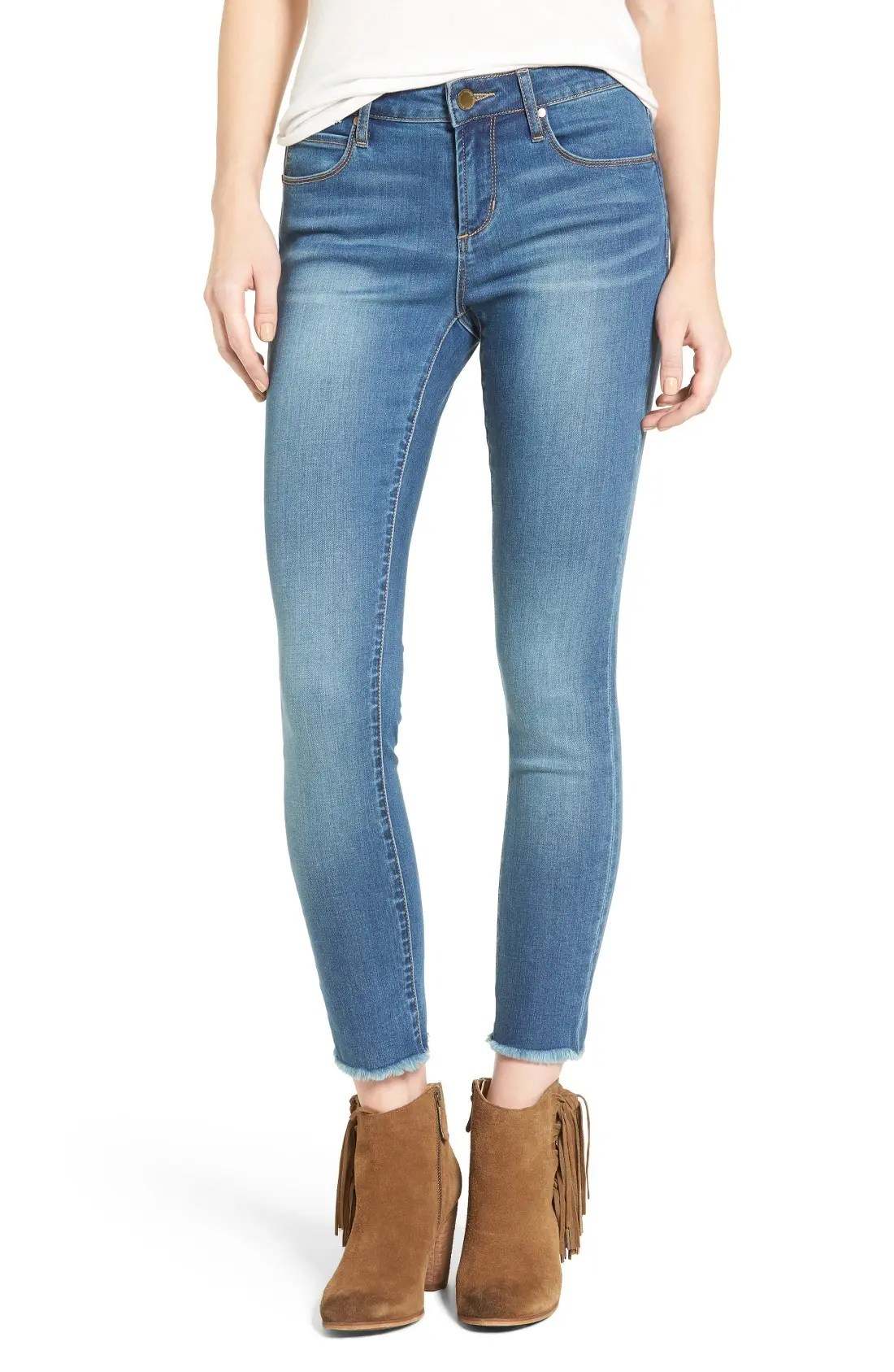 Main Image - Articles of Society Carly Crop Skinny Jeans