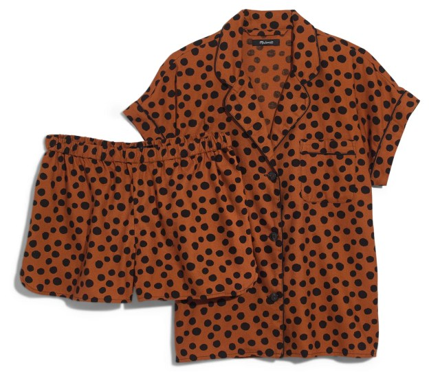 Madewell Leopard Dot Flannel Bedtime Pajamas
