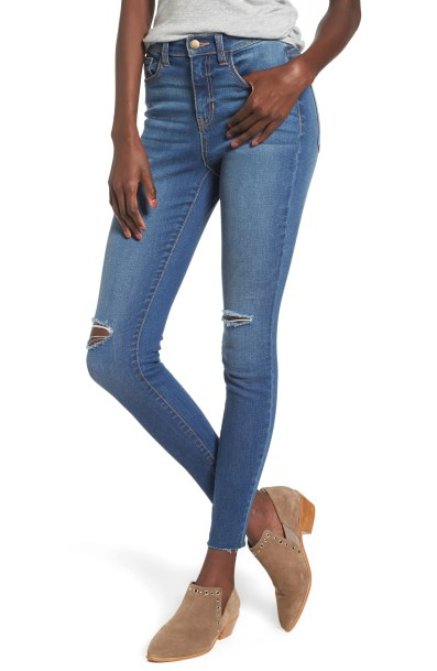 SP Black Ripped High Waist Skinny Jeans