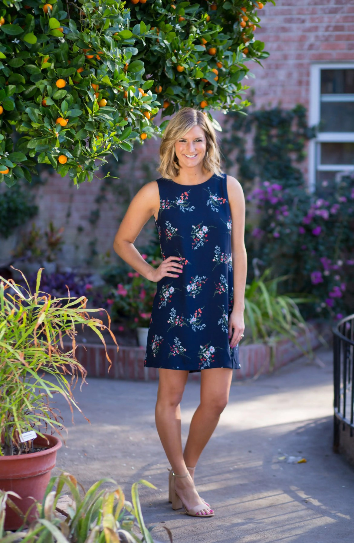 x Living in Yellow Becca Tank Dress, Alternate, color, Peacock Floral