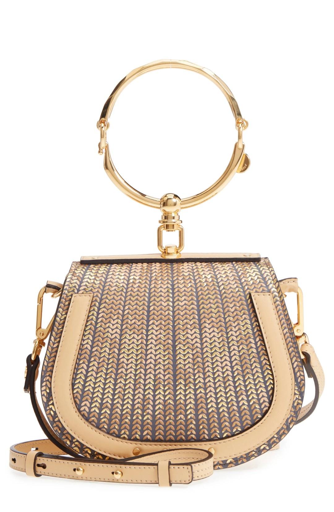 8bf832ff9 Chloé Small Nile Sequin Leather Bracelet Crossbody Bag