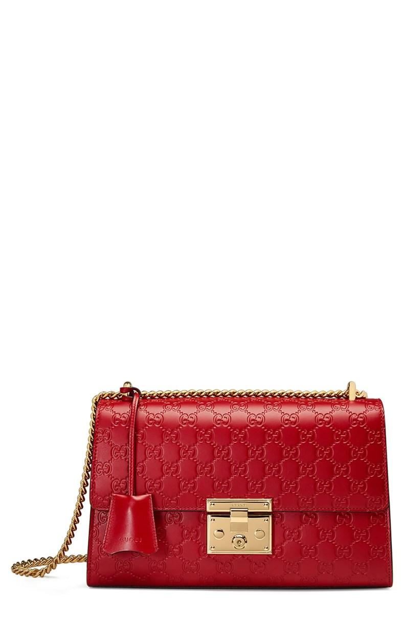 Gucci Medium Padlock Signature Leather Shoulder Bag