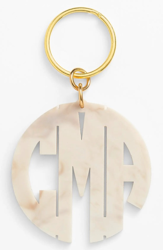 Main Image - Moon and Lola Personalized Monogram Key Chain