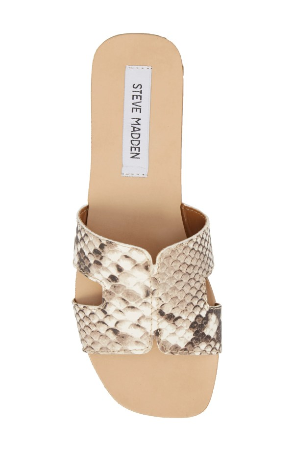 Sayler Slide Sandal, Alternate, color, Natural Snake Print
