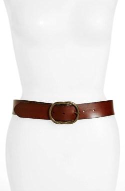 Main Image - Treasure & Bond Twisted Buckle Leather Belt