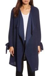 Main Image - Pleione Tie Sleeve Long Cardigan (Regular & Petite)
