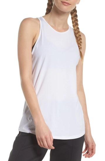 Strength Racerback Tank,                         Main,                         color, White
