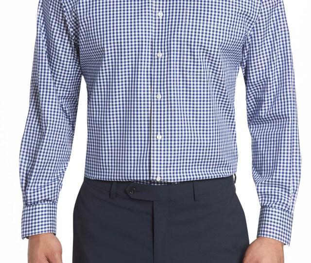 Nordstrom Mens Shop Classic Fit Non Iron Gingham Dress Shirt