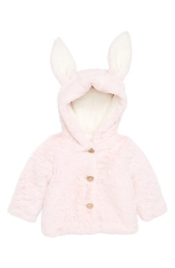 Fluffy Bunny Jacket, Main, color, Pink Baby