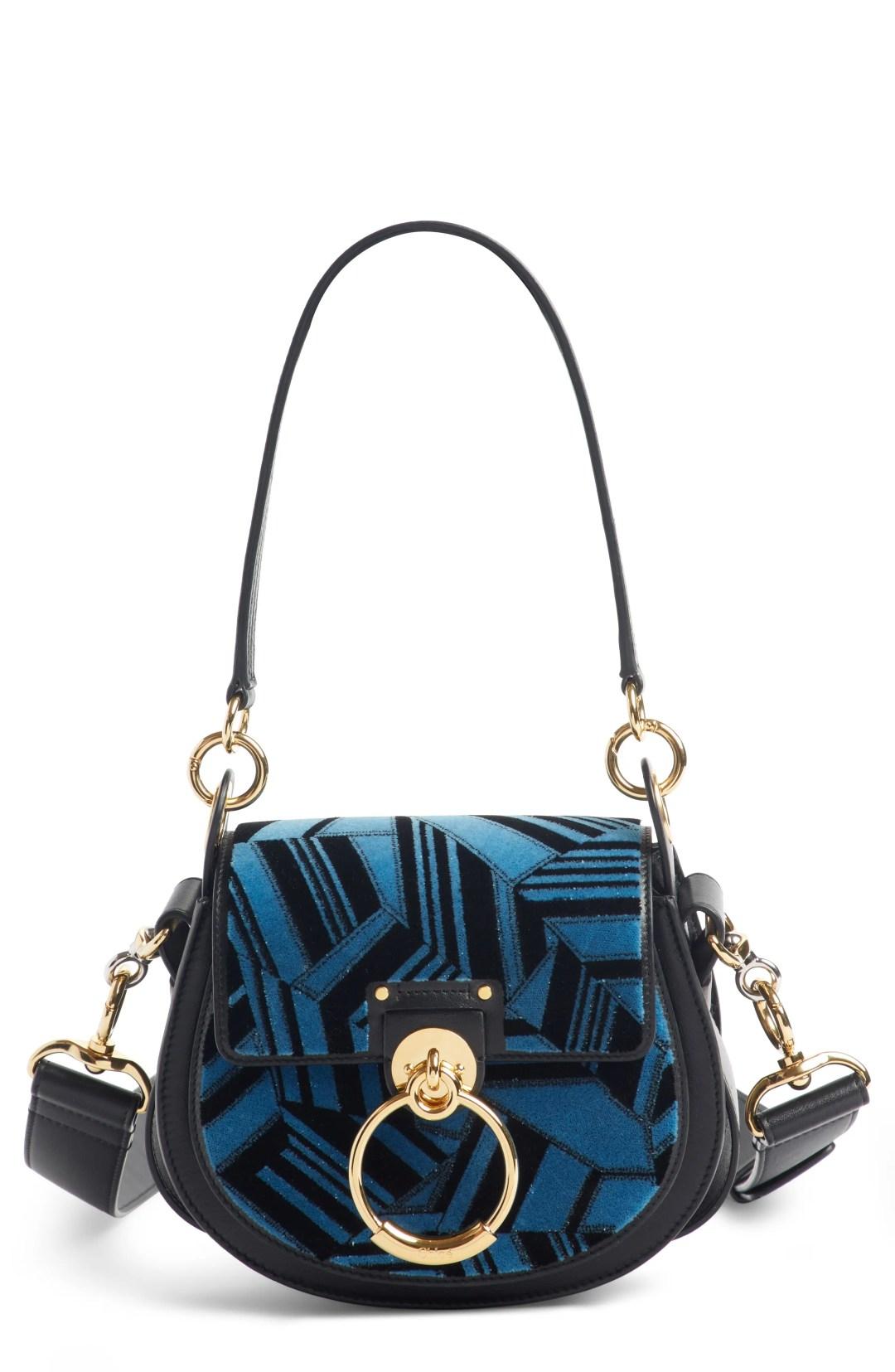 Chloé Small Tess Geo Calfskin Leather Shoulder Bag 8d2da56e291a3