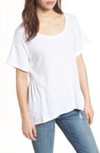 Main Image - Caslon® Back Peplum Tee (Regular & Petite)