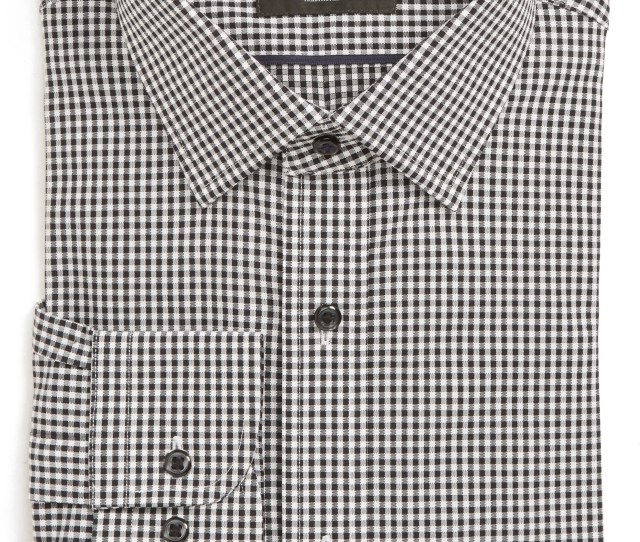 Nordstrom Mens Shop Tech Smart Traditional Fit Check Stretch Dress Shirt