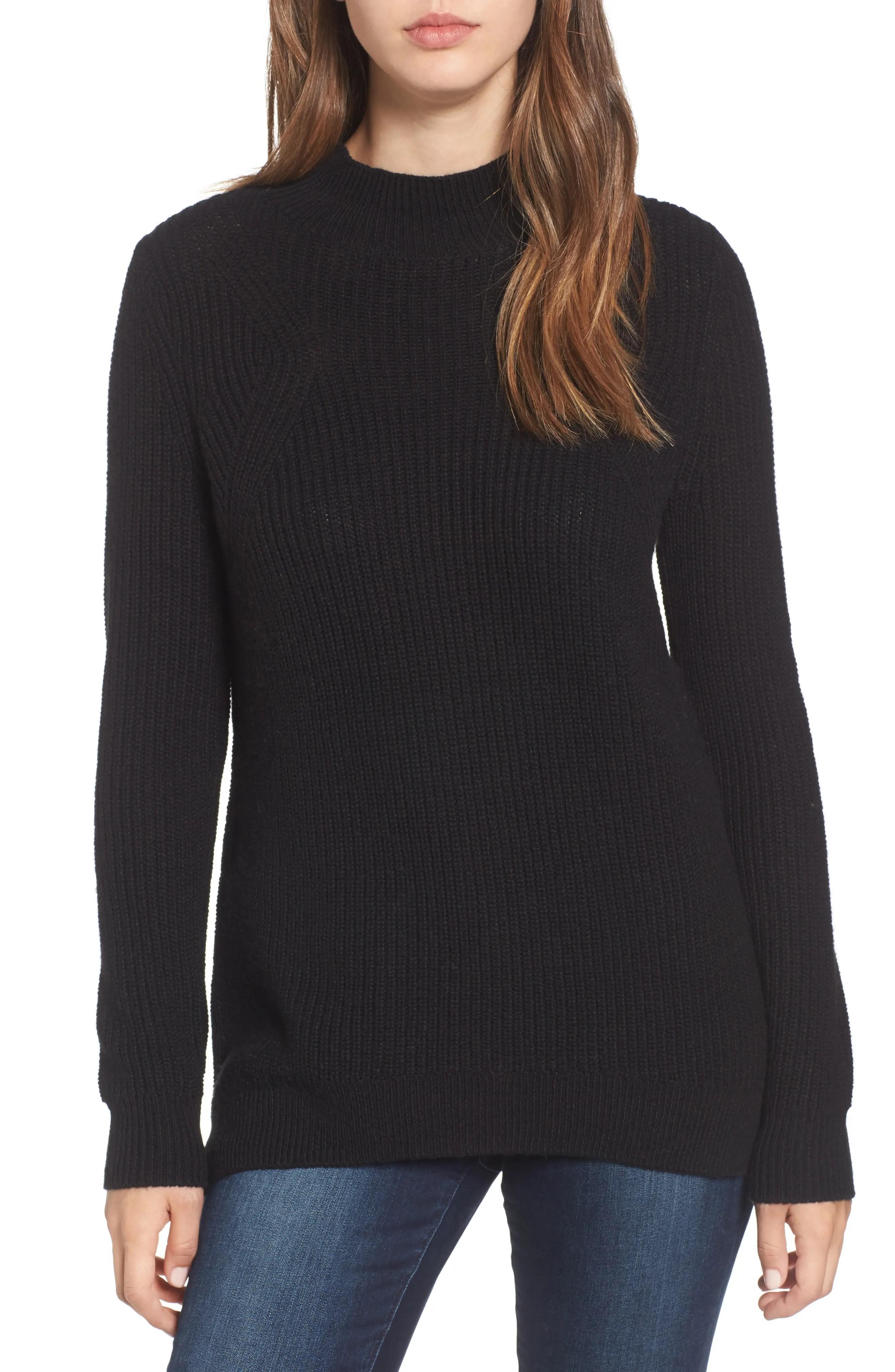 Main Image - BP. Mock Neck Tunic Sweater