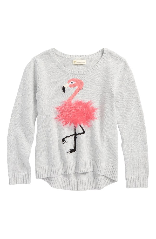 Icon Sweater, Main, color, Grey Ash Heather Flamingo