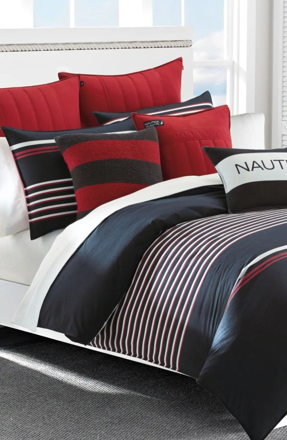 Find The Best Summer Savings On Nautica Dobby Stripe Pillows 2