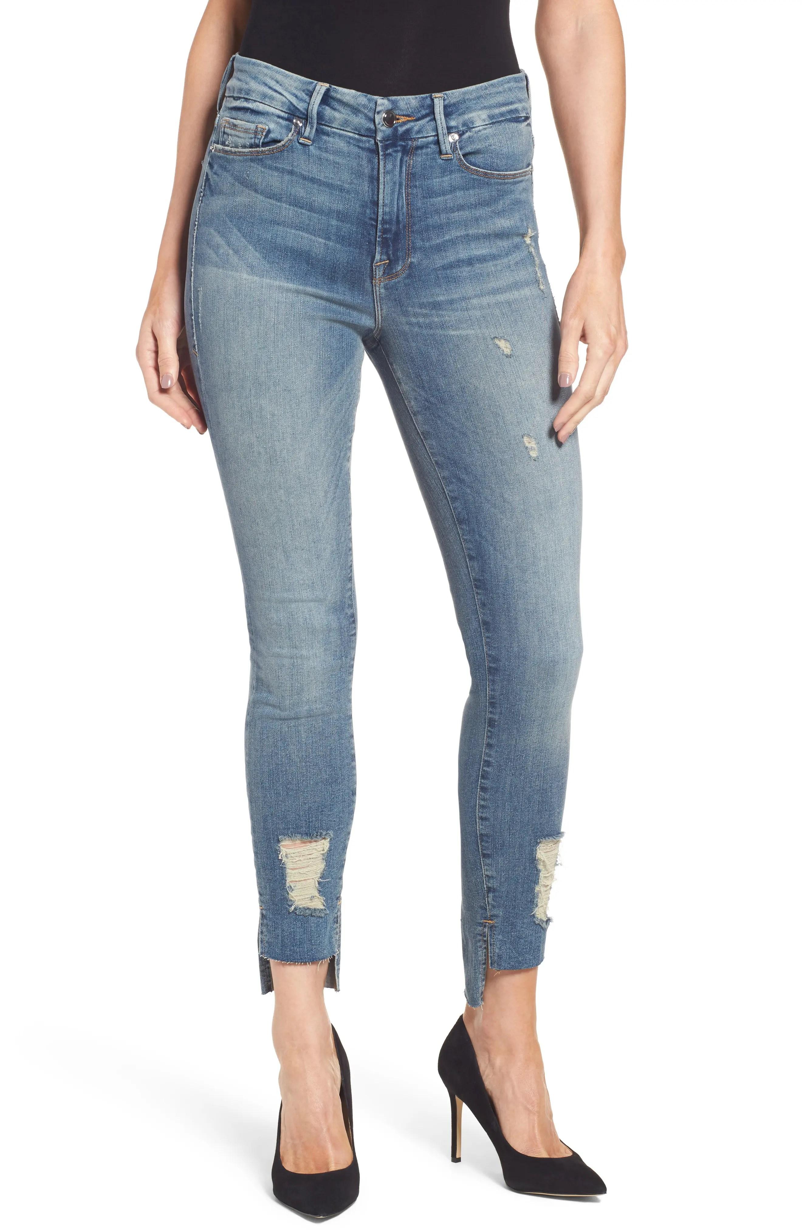 Main Image - Good American Good Legs High Waist Skinny Jeans (Blue 082)