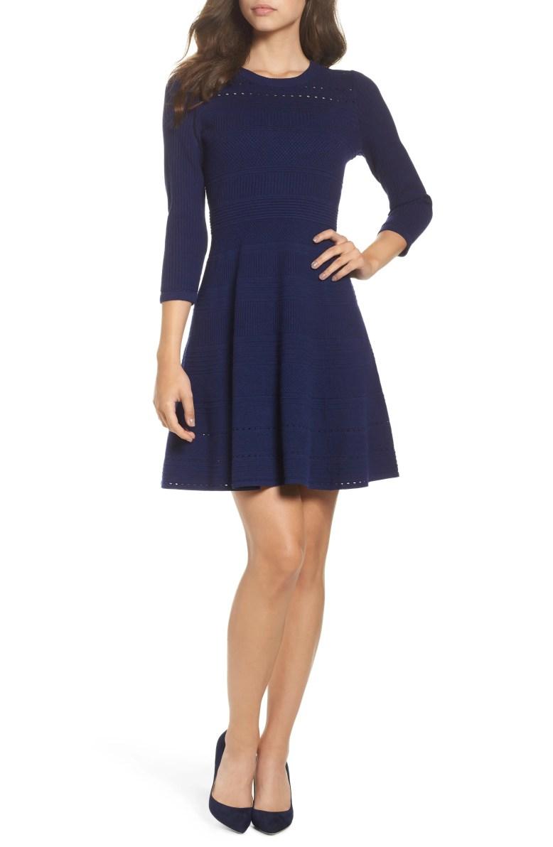 Main Image - Eliza J Fit & Flare Sweater Dress