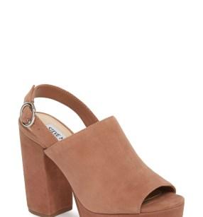 Carter Slingback Platform Sandal,                         Main,                         color, Tan Suede