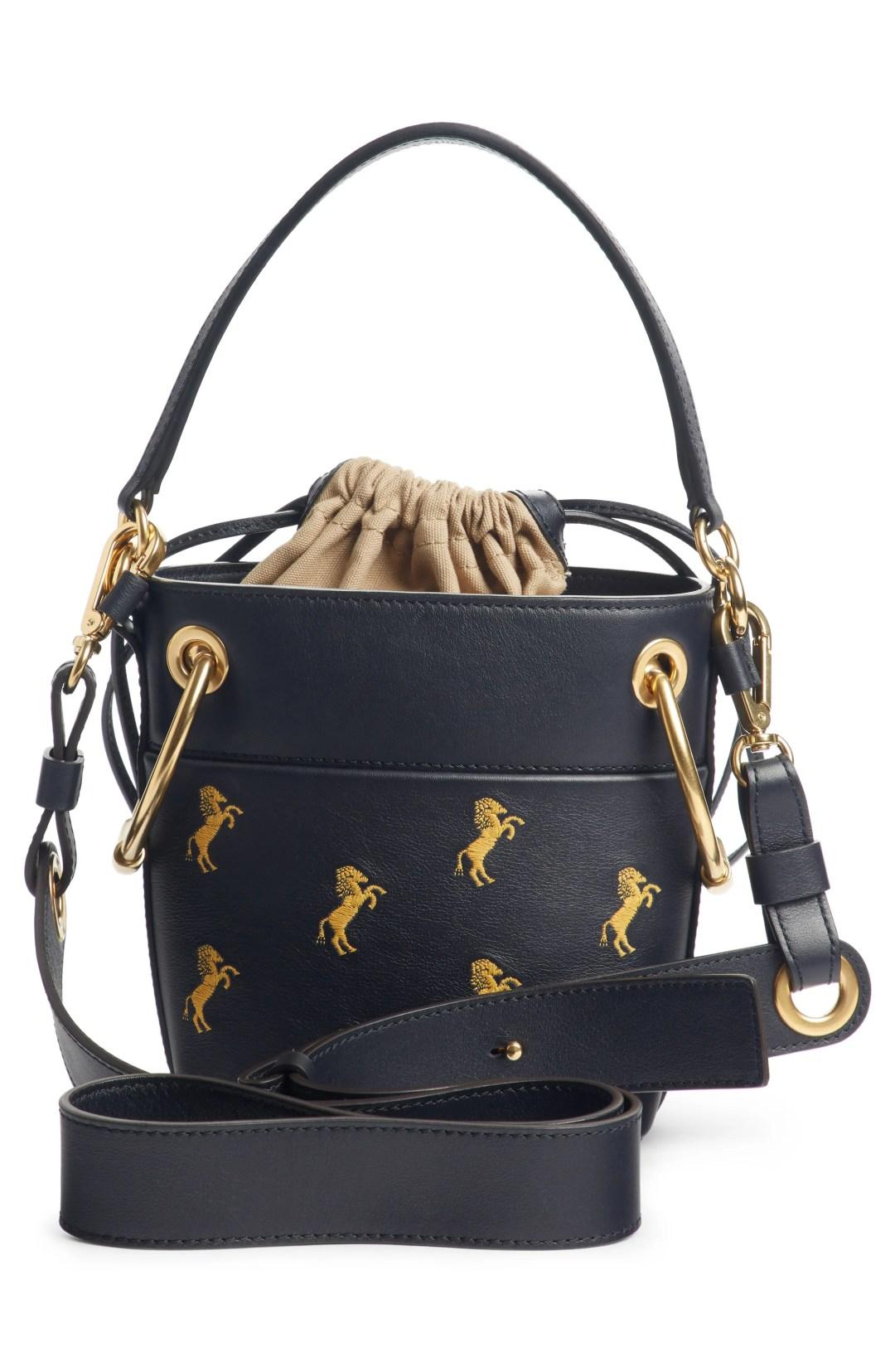 Chloé Roy Mini Embroidered Leather Bucket Bag 715a5794ab