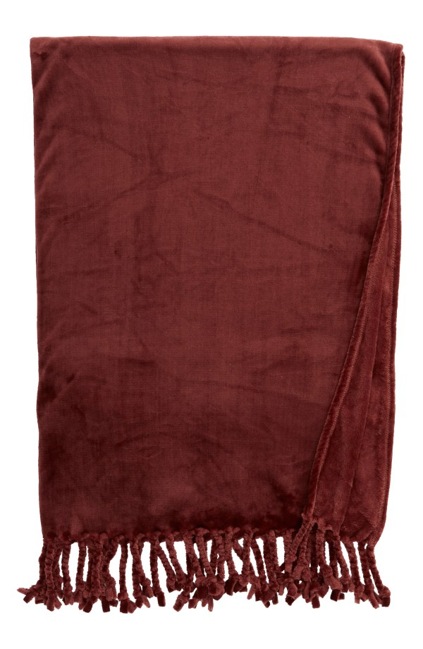 Kennebunk Bliss Plush Throw, Main, color, BURGUNDY ANDORRA