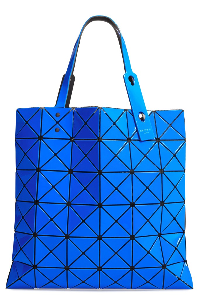 Lucent Two-Tone Tote Bag, Main, color, BLUE/ DARK BLUE