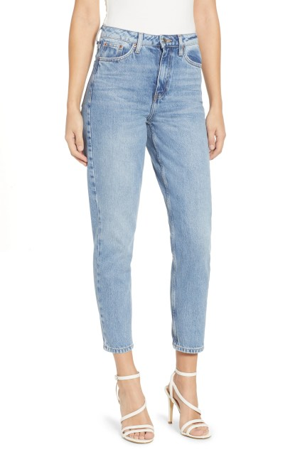 Autumn High Rise Mom Jeans, Main, color, LIGHT BLUE