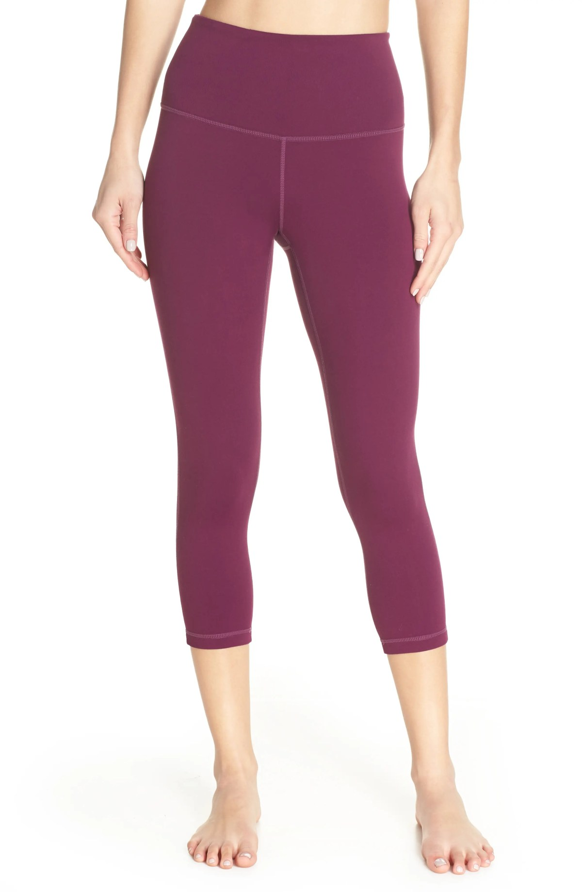 ZELLA Live In High Waist Crop Leggings, Main, color, PURPLE ODYSSEY