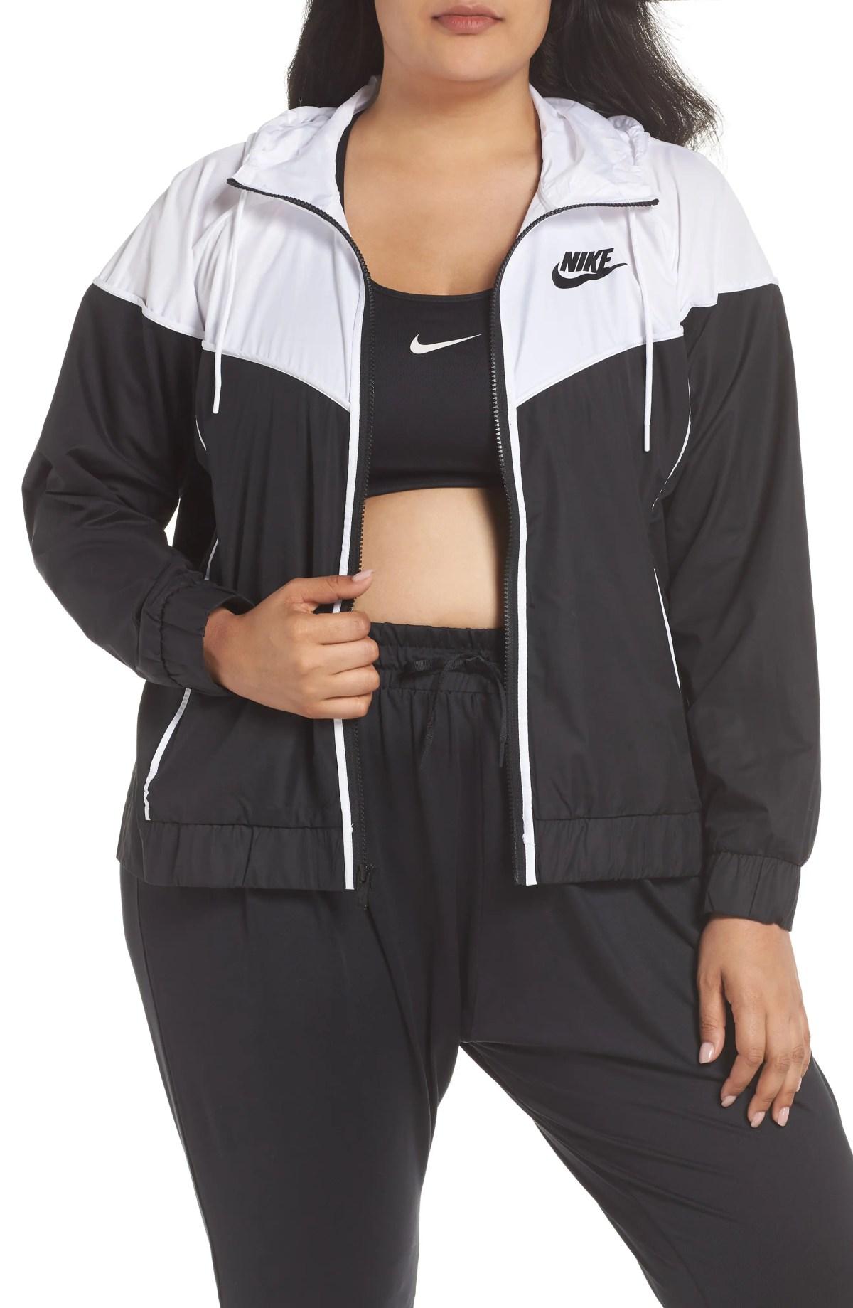 NIKE Sportswear Windrunner Jacket, Main, color, BLACK/ WHITE/ BLACK