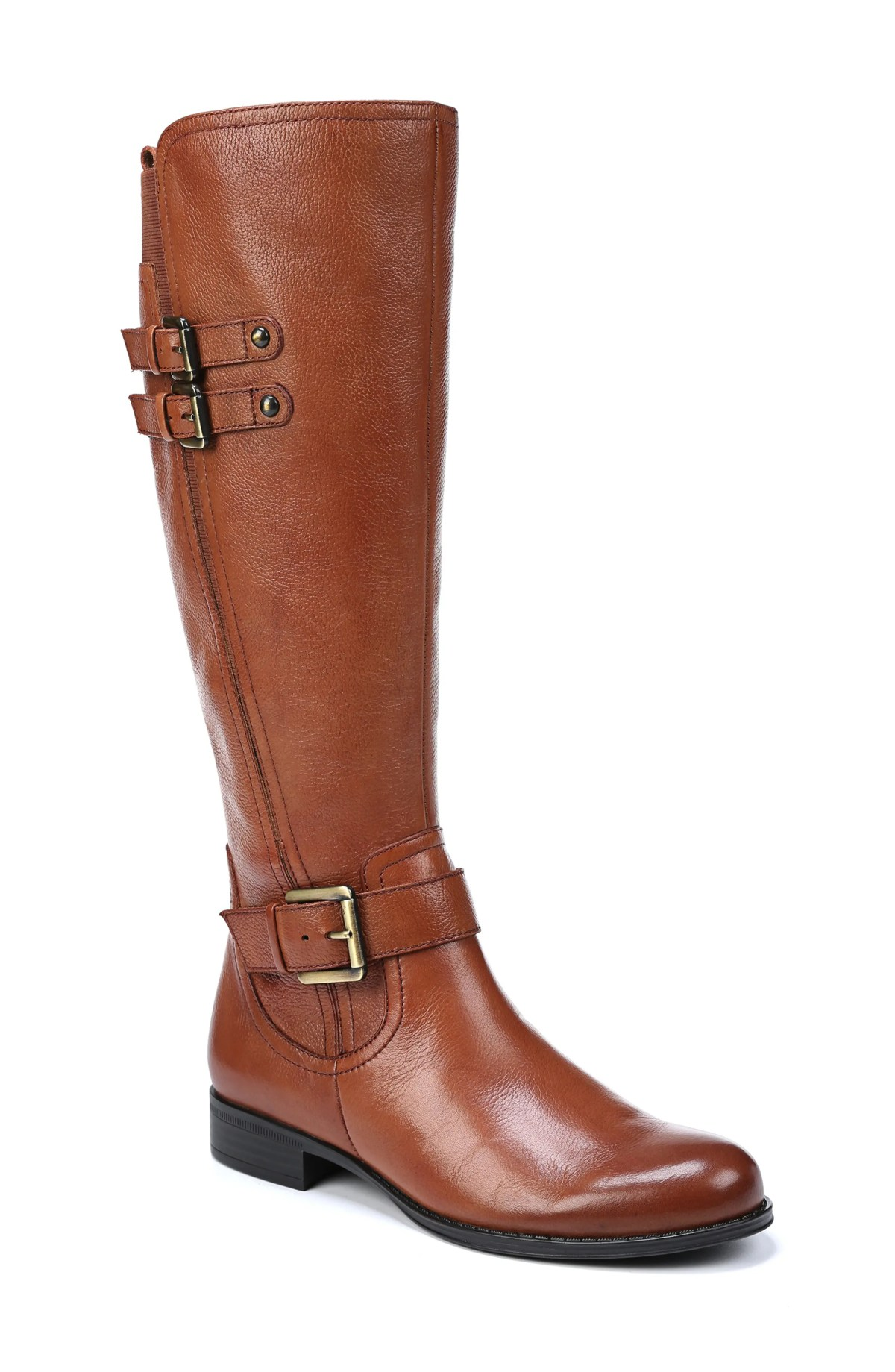 Jessie Knee High Riding Boot,                         Main,                         color, BANANA BREAD LEATHER